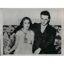 1934 Press Photo Walter Johnson Jr. and wife Pitcher Washington Senators