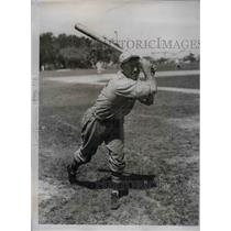 1934 Press Photo Col. Bulter Mills Outfielder Training Camp St. Louis Cardinals