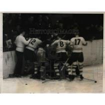 1939 Press Photo Madison Square Garden hockey, NY Rangers vs Toronto Maple Leafs