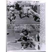 1961 Press Photo Tom Moore, Packer back, Charlie Sumner, Dick Haley