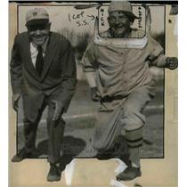 1927 Press Photo Senators Pitcher Nick Altrock and Infielder Billy Sunday.