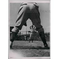 1938 Press Photo Pirates pitcher Cy Blanton & catcher Al Todd - nea08031