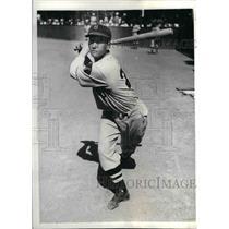 1935 Press Photo John Tyler, Braves outfielder at spring training - nea08086