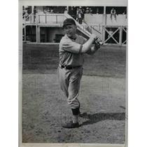 1935 Press Photo Alana Strange, Short stop of St.Louis Browns at training Camp.