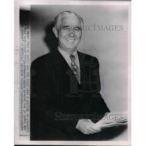 1950 Press Photo Detroit Lions Coach Bo McMillin Resigns Two Years On Contract