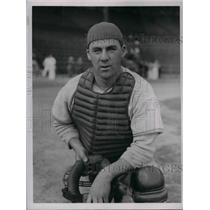 1937 Press Photo James Sheean catcher, at training camp for NY Giants