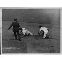 1934 Press Photo Melillo of St. Louis Cardinals Vs. yankees - nea12815