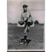 1936 Press Photo Jack Russell Pitcher training with Washington Senators