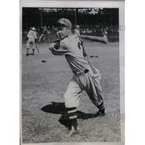 1934 Press Photo Rupert Thompson Outfielder Boston Braves Spring Training Camp