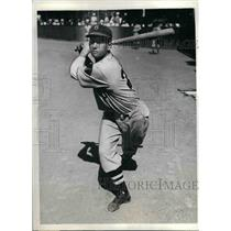 1935 Press Photo John Tyler, Braves outfielder at spring training