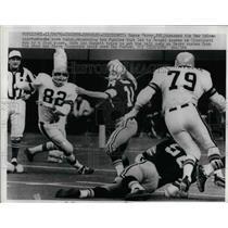 1970 Press Photo Royce Berry Edd Hargett Bengals Steve Chomyszak Saints NFL Game