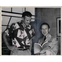 1954 Press Photo Carlton Massie Cleveland Browns - nea15930