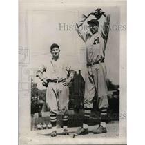 1929 Press Photo Frank Bowman Star Pitcher Hughes High School Baseball Team