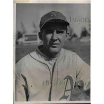1932 Press Photo Philadelphia A's pitcher E dTrask - nea08093