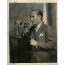 1931 Press Photo Ted Husing Columbia Broadcasting announcer, sportscaster.