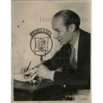 1929 Press Photo Ted Husing, Sports Commentator - nea09832