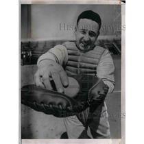 1937 Press Photo Pittsburgh Pirates catcher, Al Todd - nea08087