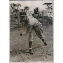 1936 Press Photo Sharkey W. Eiland at Boston Bees training camp - nea12982