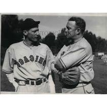 1936 Press Photo Gabby Harnett Lone Warnke Chicago baseball Cubs - nea12331