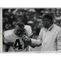 1966 Press Photo Ralph Smith Spotters Coach Collier Browns Milt Morin