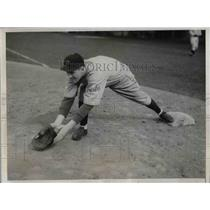 1933 Press Photo Harry Taylor, 1st baseman fo the Cubs - nea08970