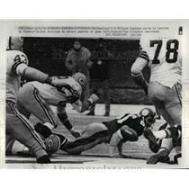1970 Press Photo Steelers Vs Packers Football Game Lionel Aldridge J.H. Wilburn