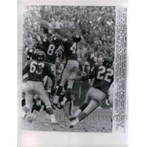 1962 Press Photo NY Giants block punt by Lions Yale Lary