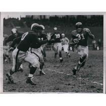 1951 Press Photo Eddie Pride, Giants, Joe Golding