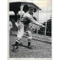 1935 Press Photo Hilary Hummer, rookie pitcher at Boston Red Sox Spring Training