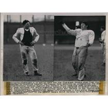 1948 Press Photo Cleveland Browns Practice Workout
