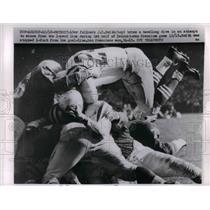 1959 Press Photo J.D. Smith Fullback 49ers Dives For Touchdown Detroit Lions NFL