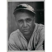 1935 Press Photo Leo Magnum, pitcher, training w/ the Boston Braves at St.