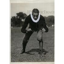 1930 Press Photo Army Football Player Carl W, Carlmark During Training