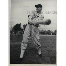 1938 Press Photo Rupert Thompson Outfielder Chicago White Sox Spring Training