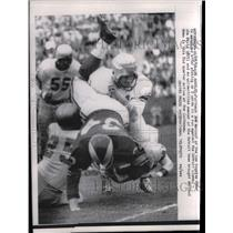 1958 Press Photo Fullback Joe Marconi, Rams, Jim David - nea08560