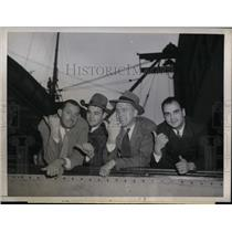 1946 Press Photo Cliff Melton, Ferris Fain, Al Lien, Don White, San Francisco