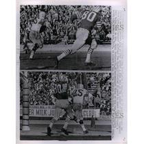 1962 Press Photo Packers Tom Moore, Jerry Martens vs SF 49ers - nea07914