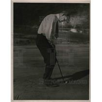 1921 Press Photo George Tyler Chicago Cubs Playing golf - nea07629