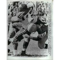 1961 Press Photo Ottawa Roughrider Chuck Stanley vs Falcons H Tictas - nea18585