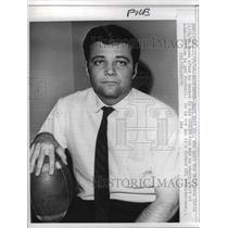 1966 Press Photo Burt Bell Jr. Resigns from Baltimore Colts - nea18144