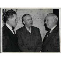 1942 Press Photo Oscar Bluege Manager Washington Senators Rogers Hornsby Oscar