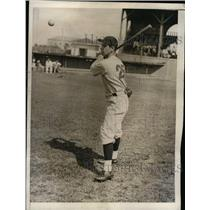 1934 Press Photo Bucky Harris, Manager of the Boston Red Sox. - nea09797