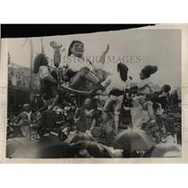 1923 Press Photo Annual Carnival at Nice Festival floats - nea17027