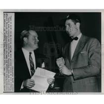 1950 Press Photo Bobby Thomson, New York Giants, Horace Stoneham