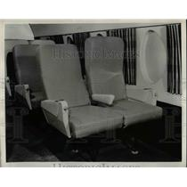 1958 Press Photo Finished seats in the F-27