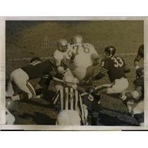 1959 Press Photo Lions John Johnson vs Bears Joe Fortunato, Larry Morris