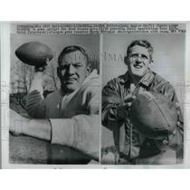 1961 Press Photo Eagles Sonny Jurgenson, Tommy McDonald