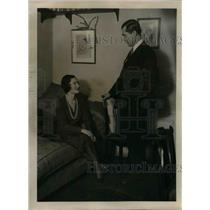 1931 Press Photo Mr. Michael Clemenceau Mille Terka Gross Actress