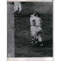 1950 Press Photo Brown's 1st baseman & Owen Friend, Brown's 2nd sacker at St.