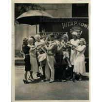 1931 Press Photo Actors Frank Wyckoff and Vic Williams in Local Boy Makes Good